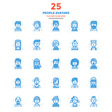 Modern Flat Line Color Icons- People avatars