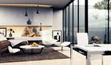 Interior Design - 3D render eines modernen Wohnzimmers - 121279181