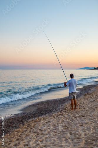 Fotobehang Koraalriffen Fishing at sea, Spain