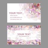 Multicolor triangle design business card template