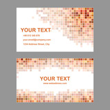 Orange square mosaic business card template