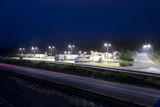 highway rest area at night Slovakia