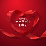 World Heart Day Background.