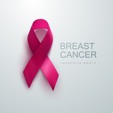 Breast Cancer Awareness Pink Ribbon.