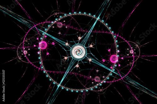 fractal on black