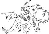 Dragon Monster Doodle Vector Illustration Art