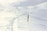 Inverno, montagna innevata.