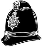Police helmet vector