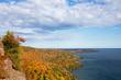 Colorful Lake Superior Shoreline with Dramatic Sky