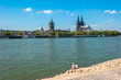 Ausblick auf Köln im Sommer