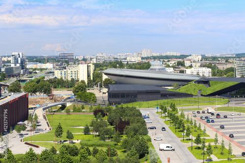 View of the Katowice city panorama .