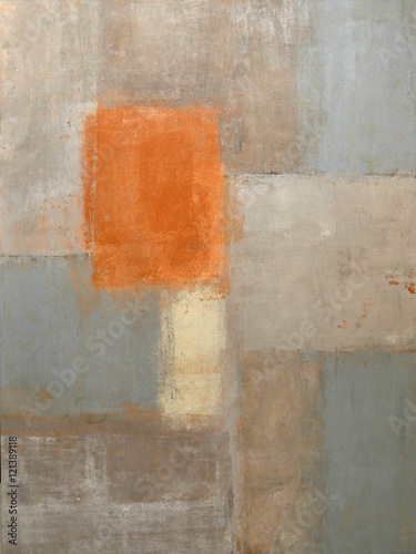 Neutral Abstract Art Painting - 121389118