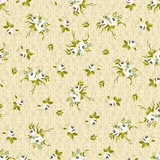 Seamless floral pattern with little white roses - 121400956
