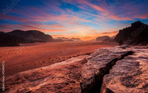 Poster Wadi Rum desert landscape,Jordan
