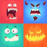 vector set of halloween badges