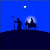 Mary and Joseph flee to Egypt - 121426572