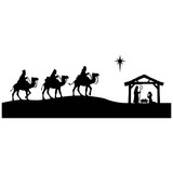 Nativity Silhouette - 121426588