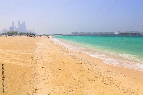 Public Jumeirah Beach in Dubai, UAE. Poster