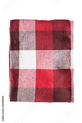 Poster Folded plaid isolated