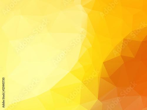 beautifull abstract yellow polygonal background