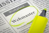 Webmaster Hiring Now. 3D.