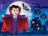 Vampire in Halloween scenery 1
