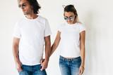 T-shirt mockup on model