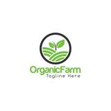 Organic Farm Creative Concept Logo Design