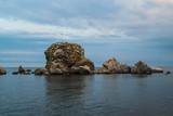 Beautiful sea sky and rocks