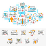 Digital Marketing Linear Concept