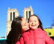 Happy family moments in Paris City