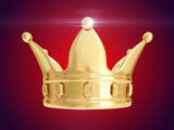 Golden crown. 3D rendering