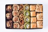 Assorted baklava desserts