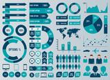 Mega Set Infographic Elements Vector Design - 121507772