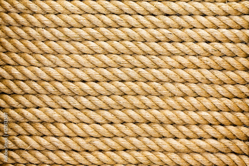 Fotobehang Zeilen Neatly organised parallel strands of rope