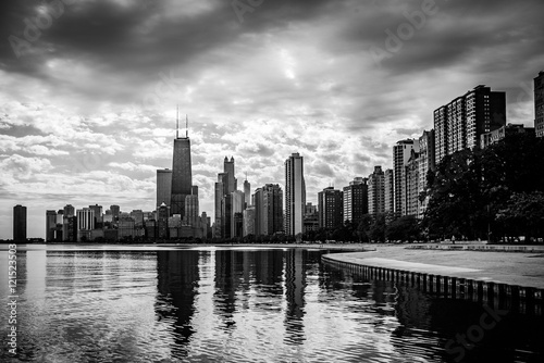 Fotobehang Chicago Chicago Skyline Reflections