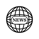 news globe connection world graphic isolated vector illustration eps 10