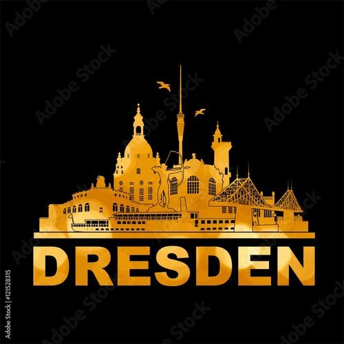 gamesageddon dresden deutschland skyline silhouette wandtattoo umriss semperoper zwinger. Black Bedroom Furniture Sets. Home Design Ideas