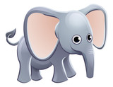 Elephant Animal Cartoon Character