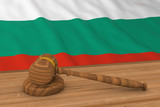 Bulgarian Law Concept - Flag of Bulgaria Behind Judges Gavel 3D Illustration