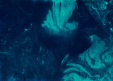 Abstract dark blue hand-made texture. Marbling background for design - 121540743