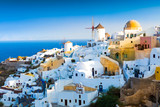 View of Oia the most beautiful village of Santorini island in Greece. - 121551731