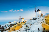 View of Oia the most beautiful village of Santorini island in Greece. - 121551739