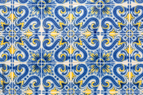 old azulejos - hand painted tiles from Lisbon