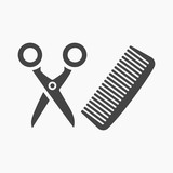 Hairdresser icon of vector illustration for web and mobile