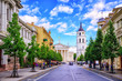 Gediminas Avenue and Cathedral square, Vilnius, Lithuania, - 121560526