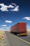 Trucker Vehicle on Road