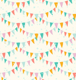 Birthday garlands seamless pattern