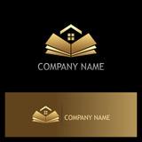 open book golden home logo