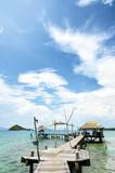 Koh Kham island : Koh Mak harbour in Thailand